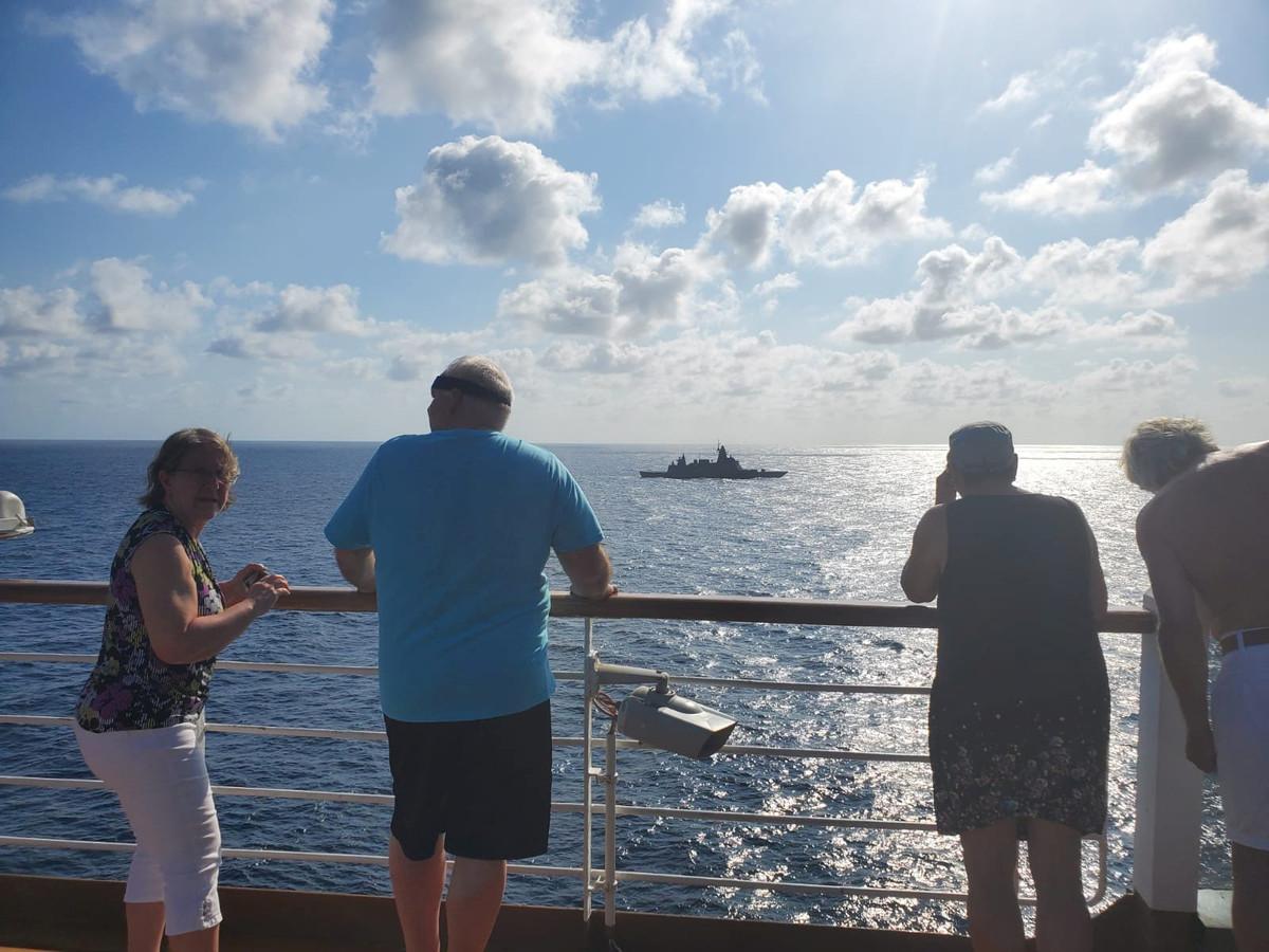 Des passagers du MS Westerdam ce 12 février.
