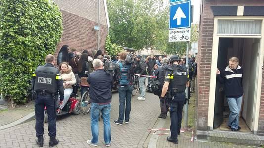 Opstootje tussen agenten en publiek in Arnhem.