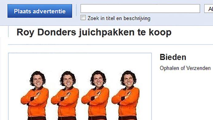 Een van de advetrtenties op Marktplaats.nl