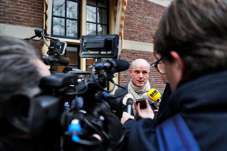 Minister Stef Blok van Buitenlandse Zaken (VVD) komt aan op het Binnenhof voor de wekelijkse ministerraad Beeld ANP