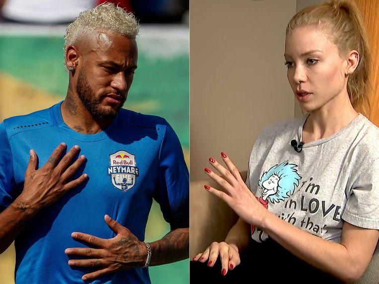 Links Neymar, rechts Najila Trindade.