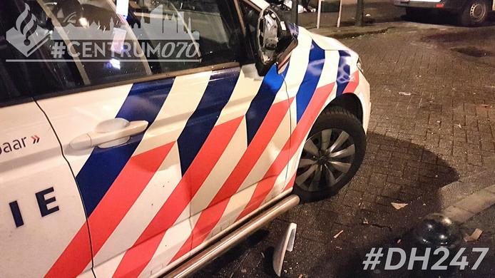 De politie plaatste de foto van de kapotte autospiegel op Facebook.