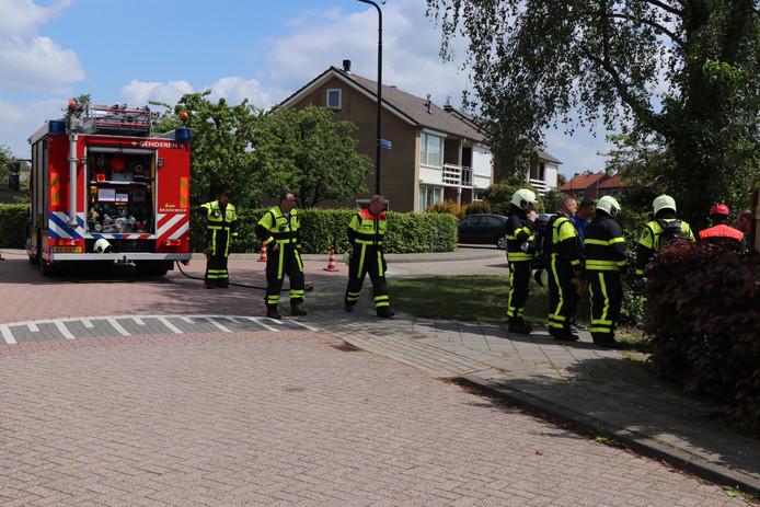 In Genderen is zaterdag een gaslek ontstaan. De brandweer kwam ter plekke.