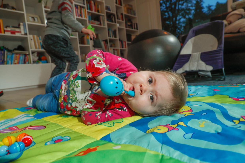 De Vlaamse baby Pia kreeg in oktober 2019 in de VS gentherapie, nadat een sms-actie voor haar viraal was gegaan.