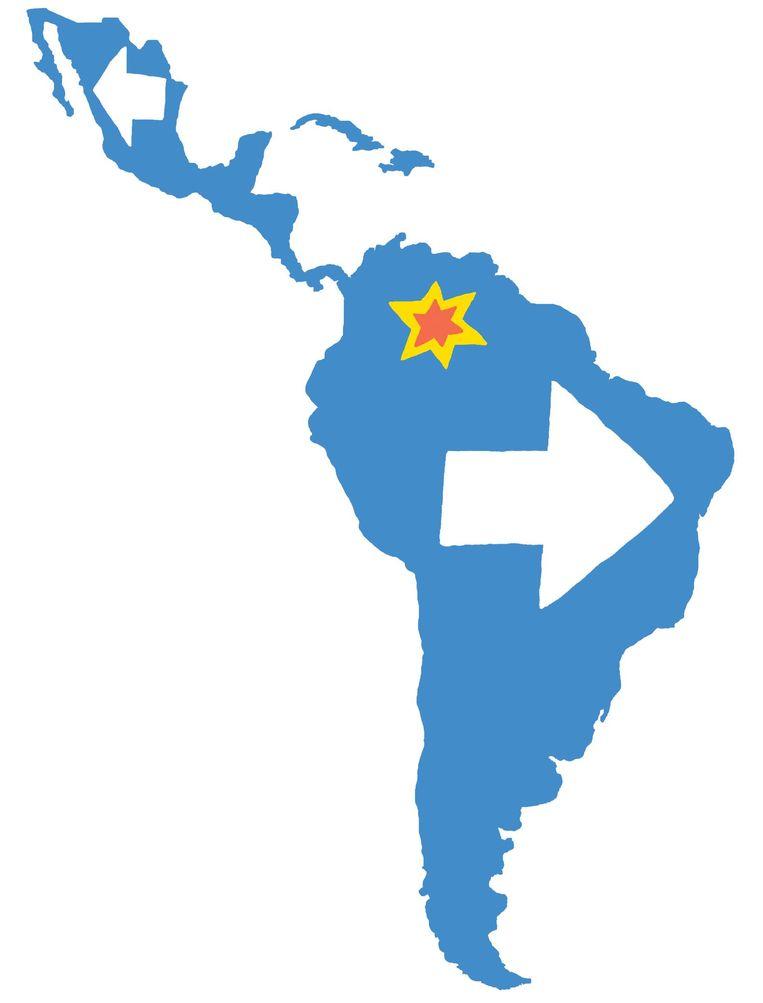 In Brazilië gaat de extreem-rechtse Jair Bolsonaro er in het najaar met de winst vandoor. Beeld Bas van der Schot