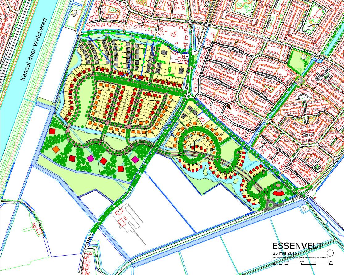 Ontwerp voor de nieuwbouwwijk Essenvelt.