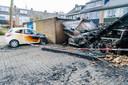 Gevolgen van een Autobrand in Nijenheim, vorige maand.