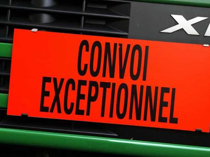 Waarom is bord zwaar transport in het Frans?