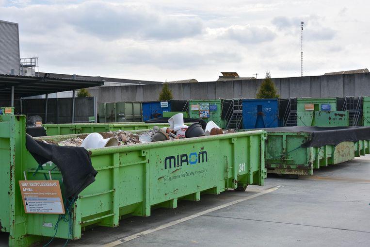 Illustratie van een recyclagepark