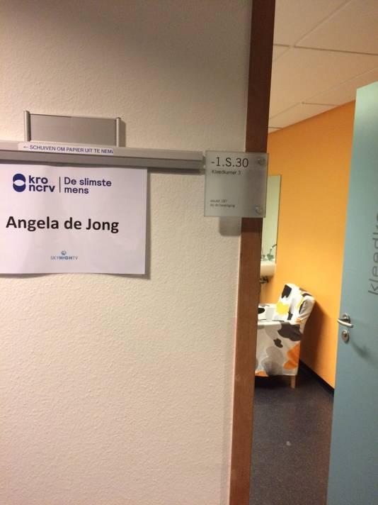 De kleedkamer van columniste Angela de Jong.