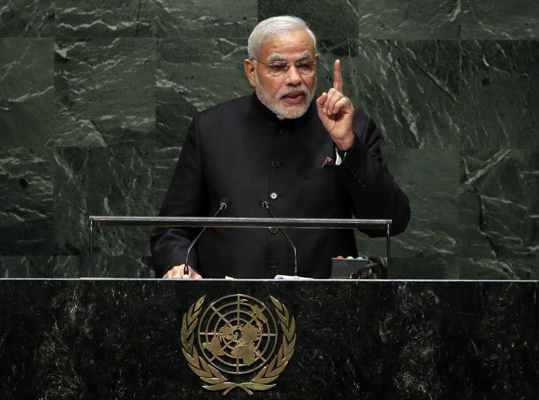 President Modi roept de lidstaten van de VN op om vriend te worden. Beeld ap