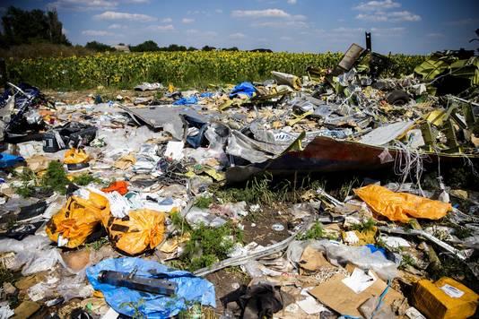 De MH17-rampplek een maand geleden.