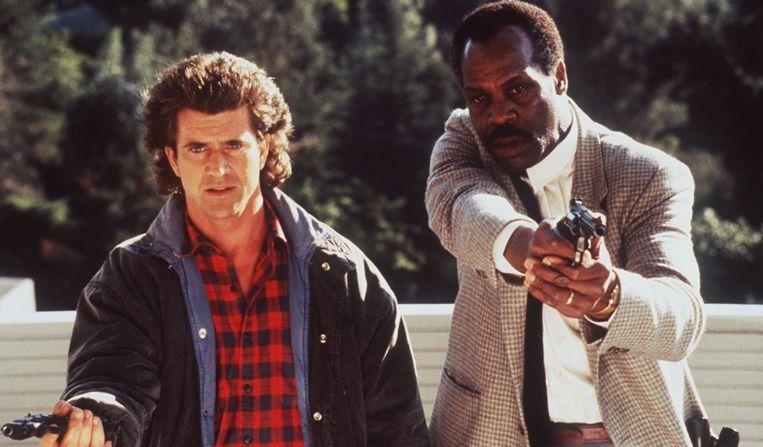 Mel Gibson en Danny Glover in 'Lethal Weapon'.