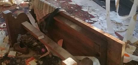 Tuinhuis compleet vernield in Aarle-Rixtel