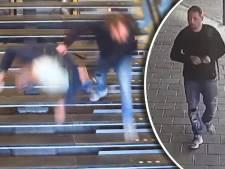 Politie laat beelden zien van winkeldief die man van trap duwt op Utrecht CS