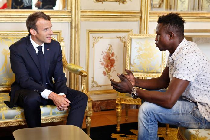 Mamoudou sprak vanochtend met president Macron.