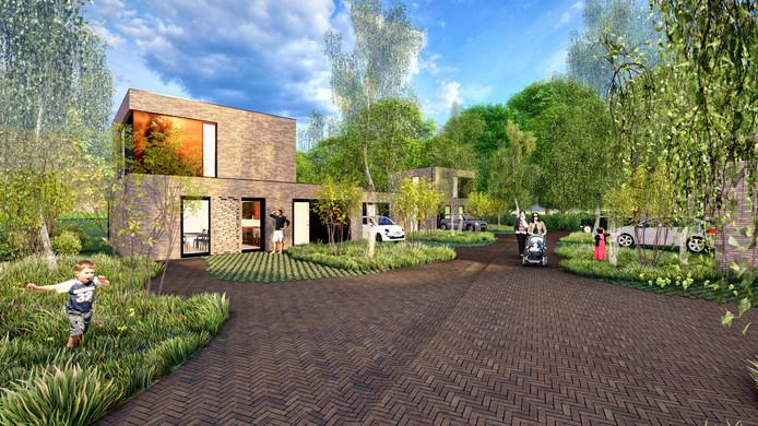 Voorlopig ontwerp van Roozenhof in Rozendaal. Bron: Palazzo