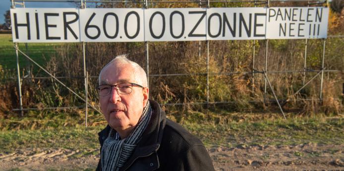 Jan Bruins krijgt inspreekrecht om te protesteren tegen de aanleg van een 13 hectare groot zonnepark in de Hardenbergse buurtschap Hoogenweg.