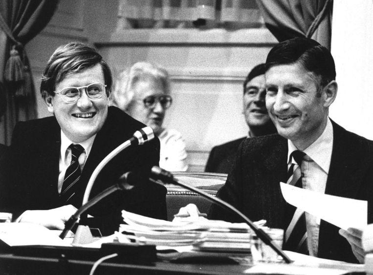 Wiegel (links) en Van Agt in 1979. Beeld Anp