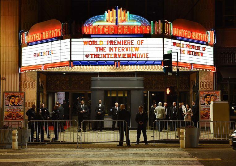De première van 'The Interview' in Los Angeles vorige week.