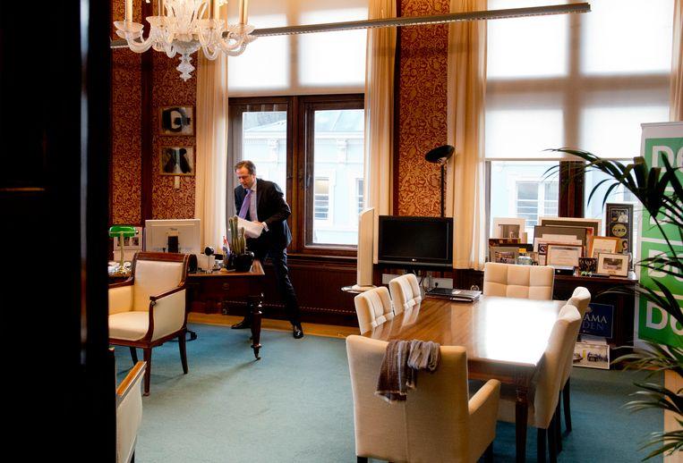 De werkkamer van Pechtold. Beeld Anp