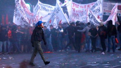 Rellen tijdens Grieks bezuinigingsprotest