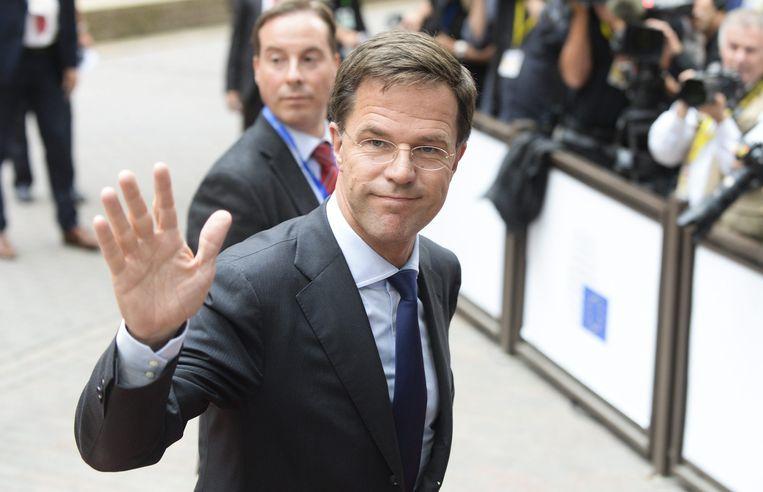 Premier Rutte afgelopen week in Brussel. Beeld ANP