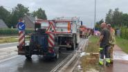 Teermachine vat vuur bij wegenwerken in Vredelaan
