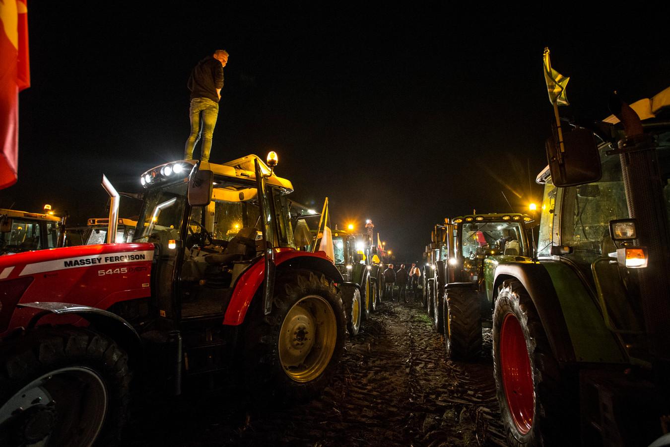 Foto uit Oktober. Boeren trokken toen vanuit de Achterhoek volop naar het Malieveld tijdens de boerenprotestacties in Den Haag.