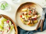 Wat Eten We Vandaag: Braadworst met appel, sjalot en rozemarijn