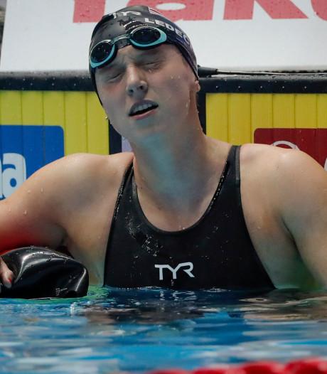 Zwemvedette Ledecky meldt zich ziek af