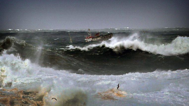 Storm in A Coruña. Beeld epa
