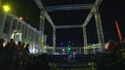 Drones racen op Kunstberg in Brussel