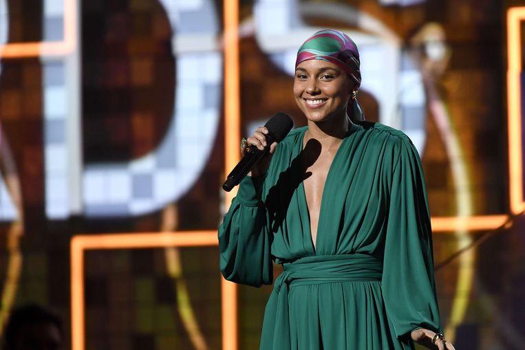 Alicia Keys (zonder make-up) op de Grammy Awards in 2019