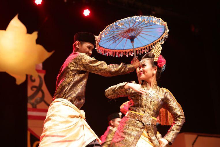 De Indonesische groep op het Wereldfestival.