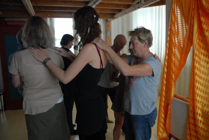 De deelnemers aan de onaangekondigde workshop hadden van te voren niet verwacht zelf in actie te moeten komen