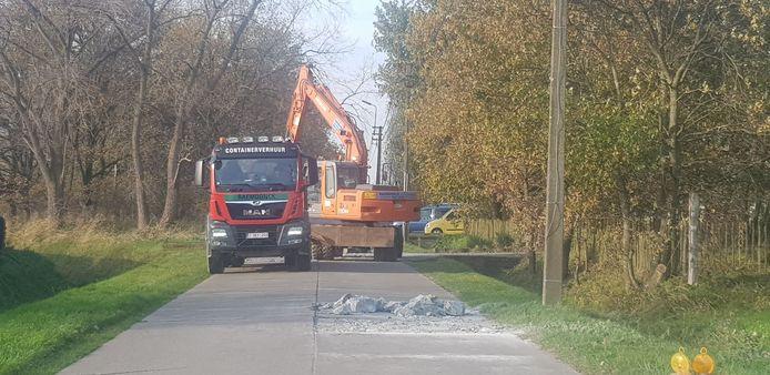 De betonwerken op de Overslagdijk zijn vandaag gestart.