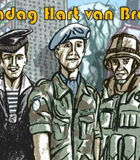 Veteranen Hart van Brabant strijken met luchtafweer en viertonner in Hilvarenbeek neer