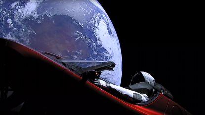 Tesla van Elon Musk wijkt af van geplande koers en stevent af op planetoïdengordel