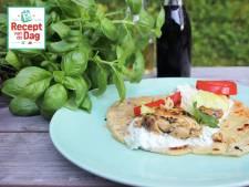 Recept van de dag: Piadina met kip en tzatziki