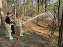 Brandweer in Hooge Mierde.