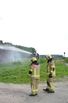 Bouwkeet in Westdorpe uitgebrand