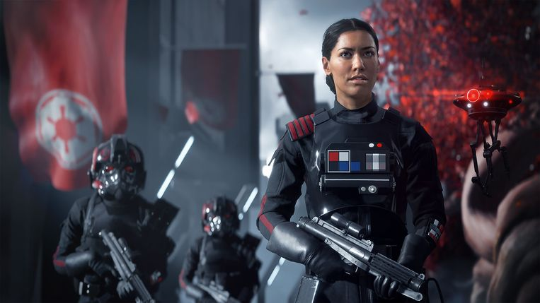 Beeld uit Star Wars Battlefront II, een game in het brandpunt van discussie over games die mogelijk gokverslaving in de hand werken. Beeld EA