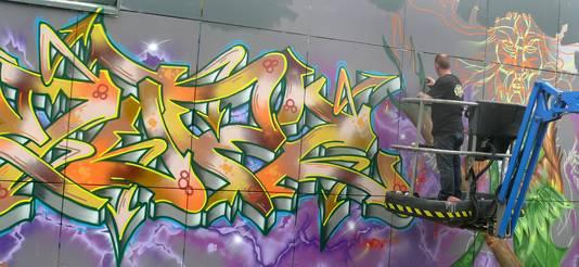Vierde Graffiti Jam in Roosendaal weer groter feestje aan de Oostelijke Havendijk