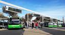 Bussenop het station in Apeldoorn.