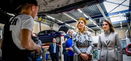 Koninginnen op bezoek bij  techneuten ROC Mondriaan