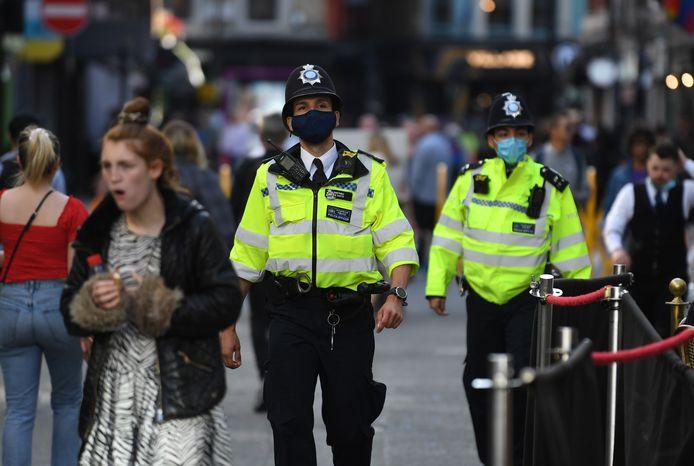 Une patrouille de police dans les rues de Londres, le 5 juillet 2020 (illustration).