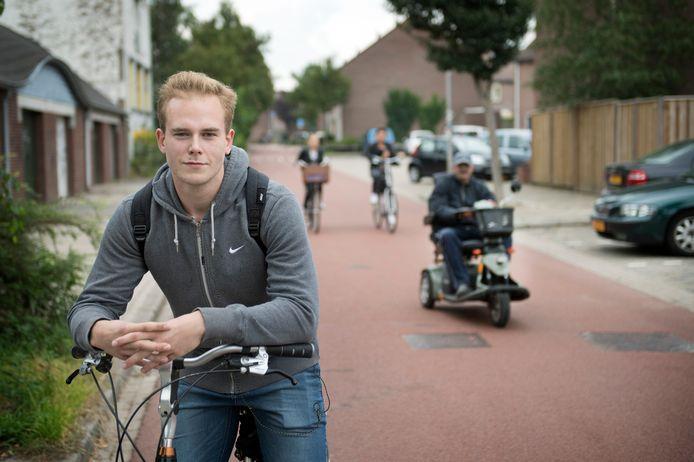 David Bos uit Wijchen fietst vaak op de Hatertseveldweg.