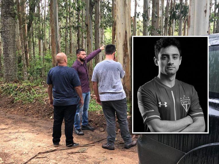 Edison Brittes geeft de onderzoekers zijn versie van de feiten. Inzet: de vermoorde voetballer Daniel Correa.