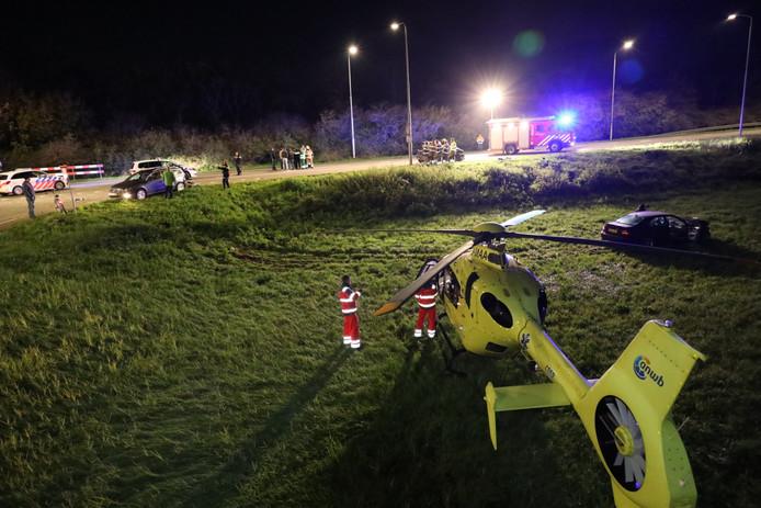 Er waren drie auto's betrokken bij het ongeluk